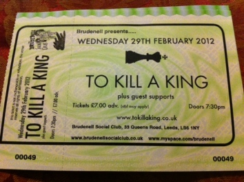 Saw To Kill a King for the first time as the headline act