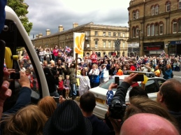 Saw the Olympic torch pass through Huddersfield
