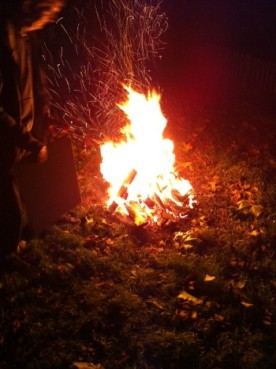 Bonfire night with Cameron's family